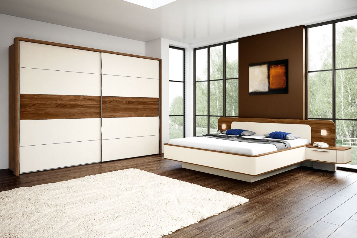 Choose from framed, mirrored or glazed wardrobe doors, bed frames, bedside cabinets, drawer units, dressing tables and a wide range of finishes to complement your décor.