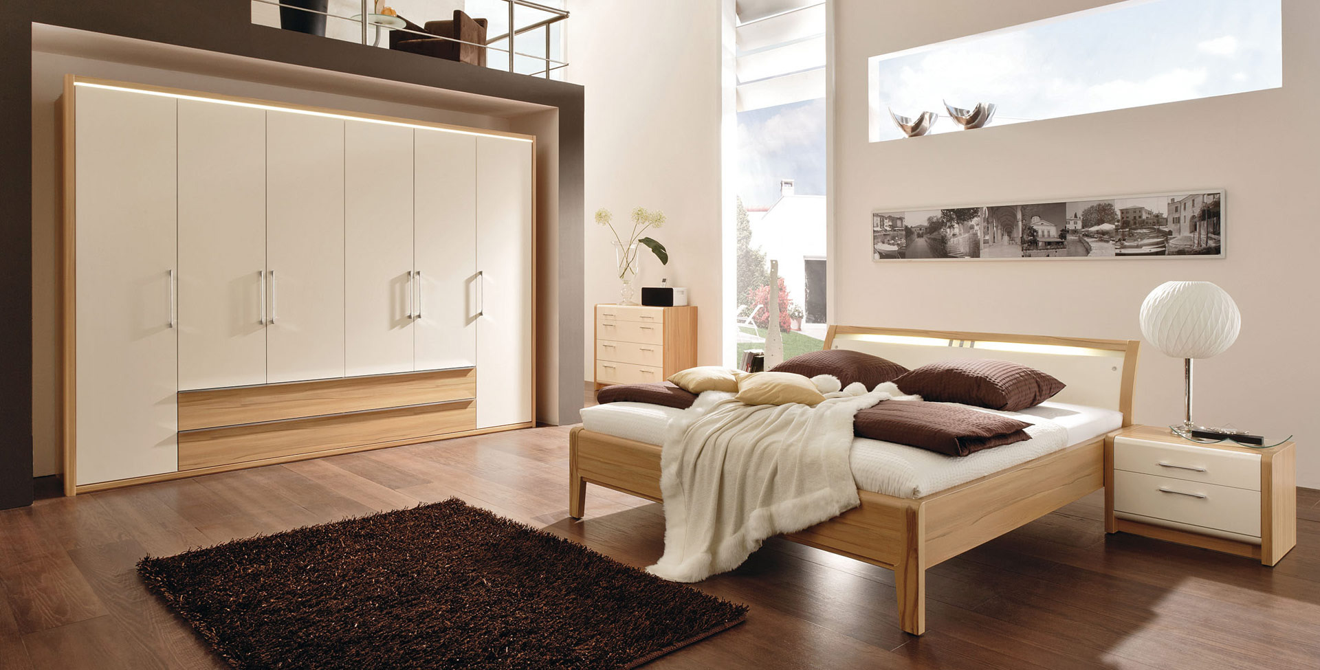 Luxurious and creative Bedroom systems made to measure